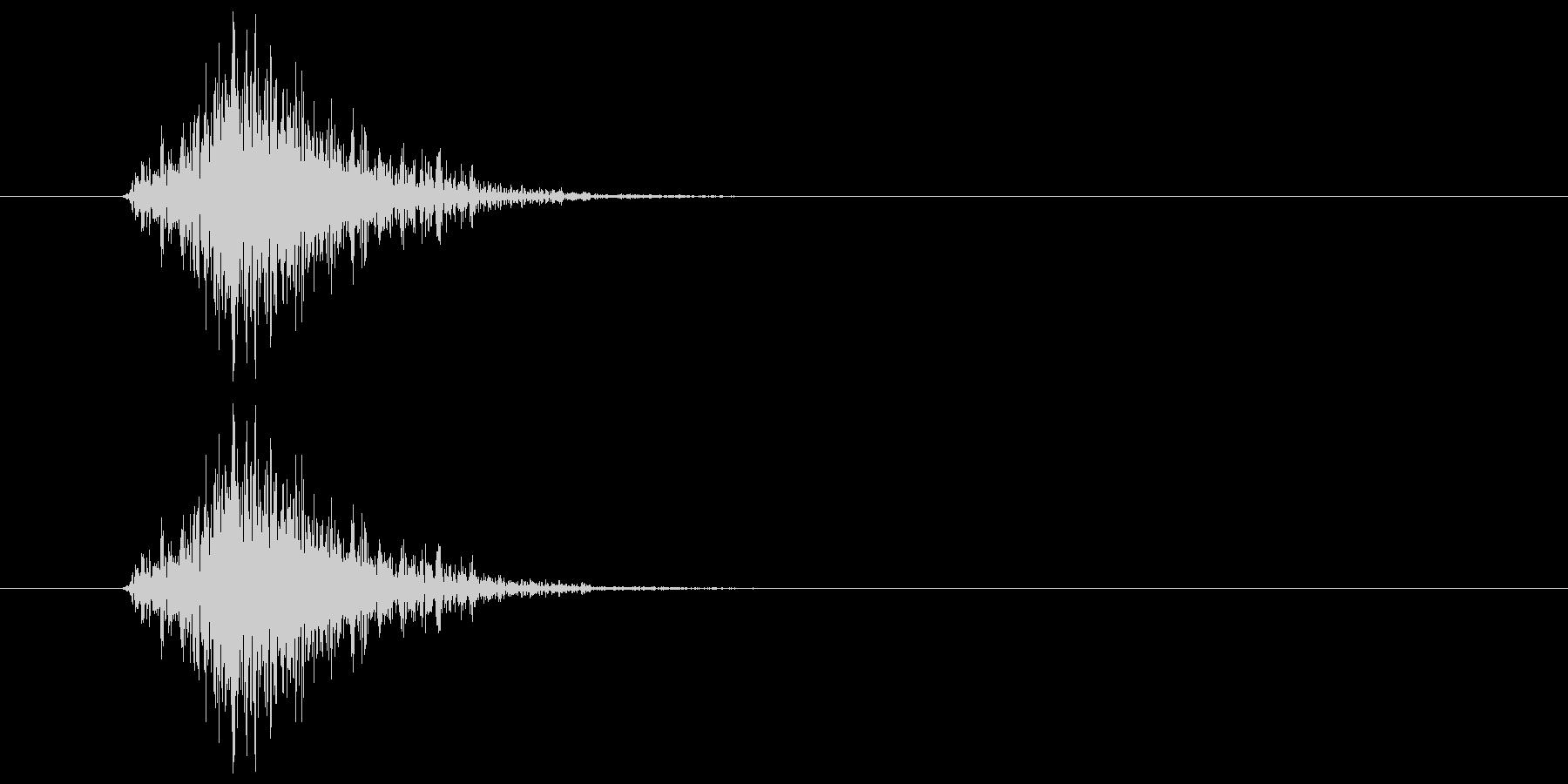 ブンッ(力強く振る音)の未再生の波形