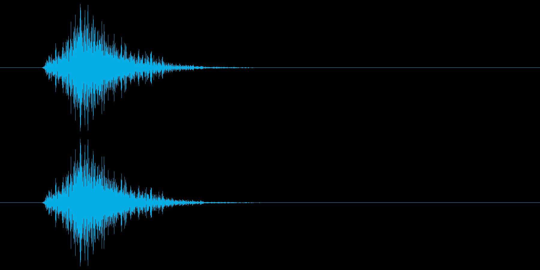 ブンッ(力強く振る音)の再生済みの波形