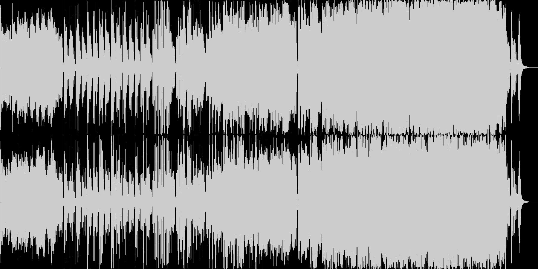 コーラスの印象が強い幻想的で壮大バラードの未再生の波形