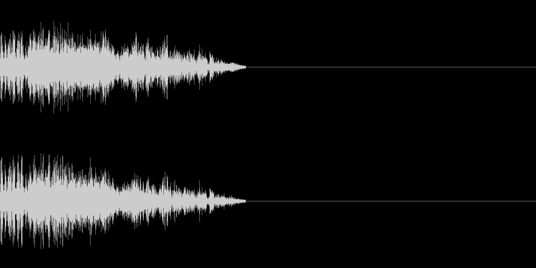 ゾンビの発声(攻撃2)の未再生の波形