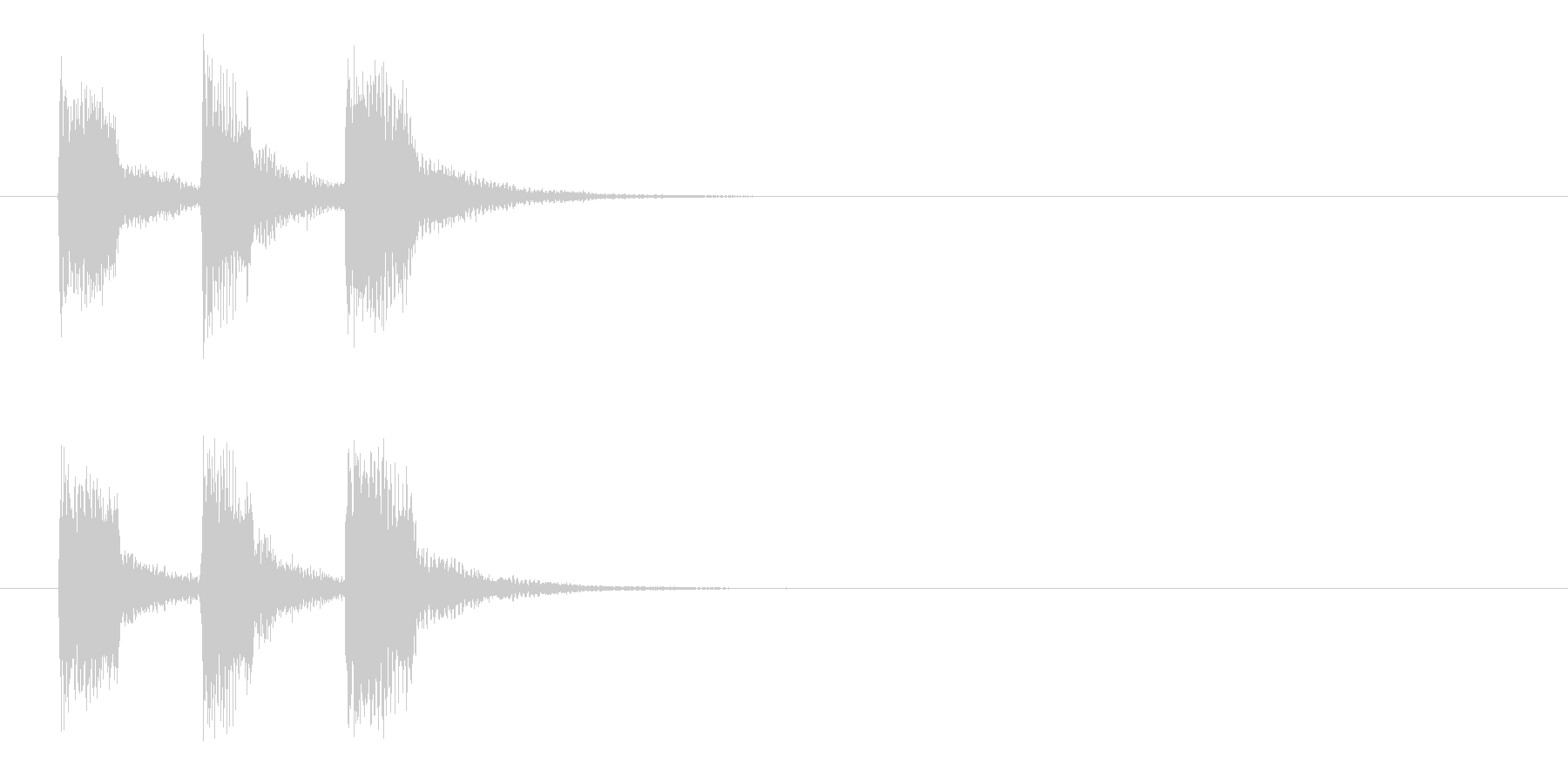 ジングル(もう時間切れです)の未再生の波形