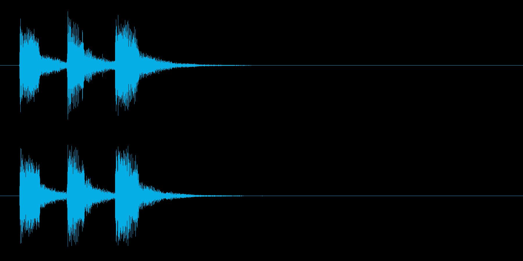 ジングル(もう時間切れです)の再生済みの波形
