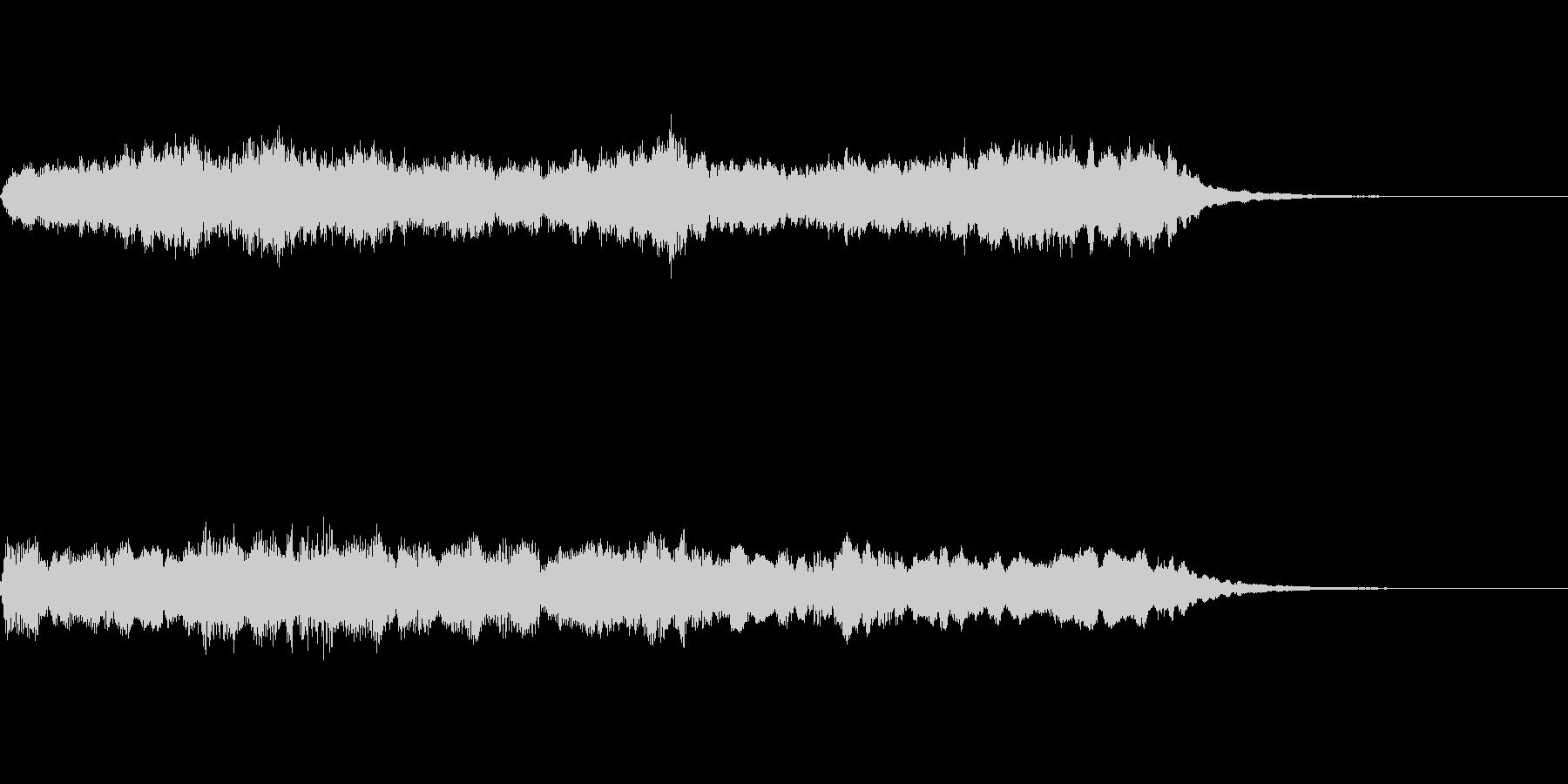 アンティークな質感のオーケストラジングルの未再生の波形