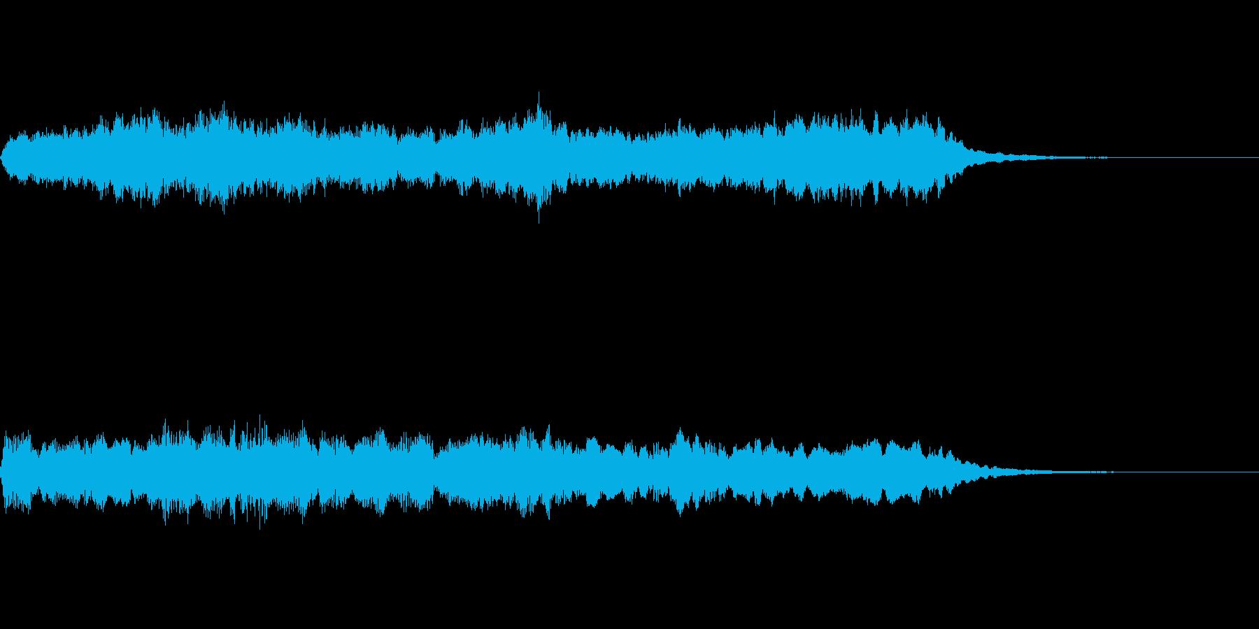 アンティークな質感のオーケストラジングルの再生済みの波形