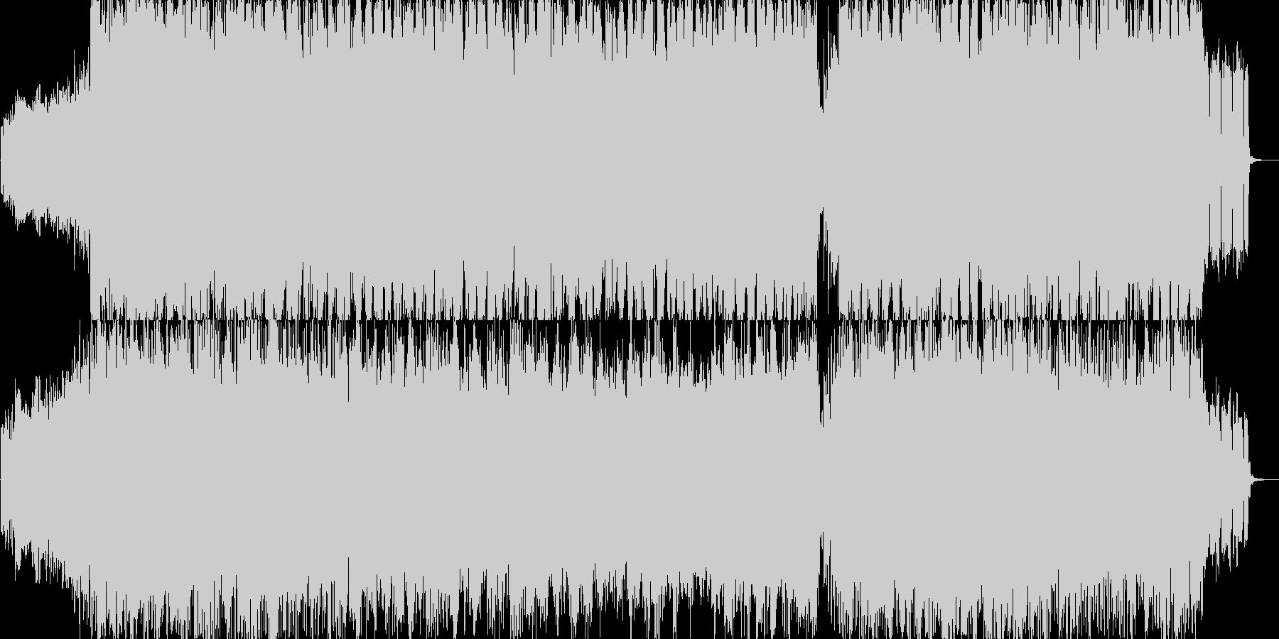 戦闘シーン用の疾走感あるBGMの未再生の波形
