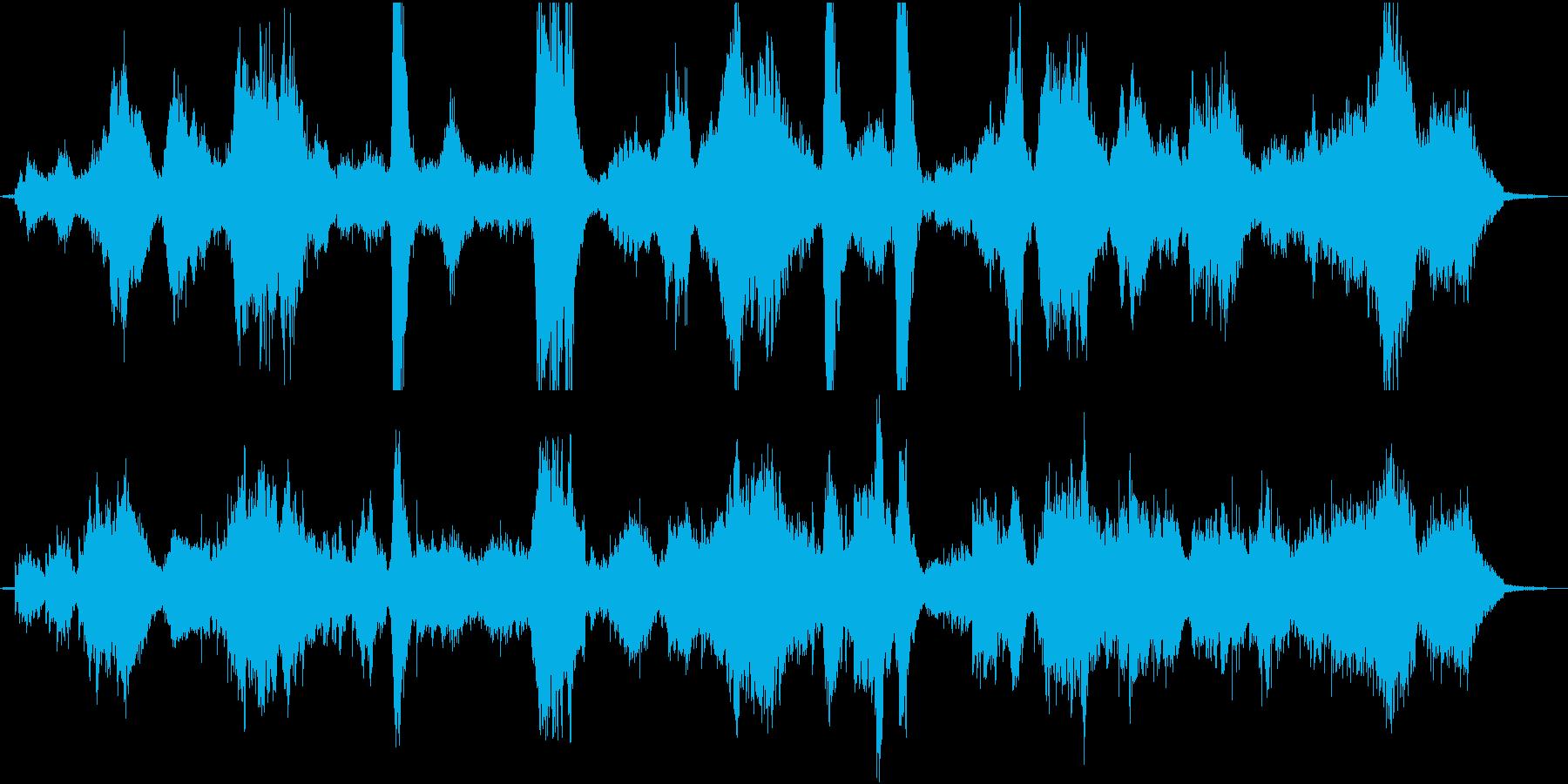 ホラー、ミステリアスなインストの再生済みの波形