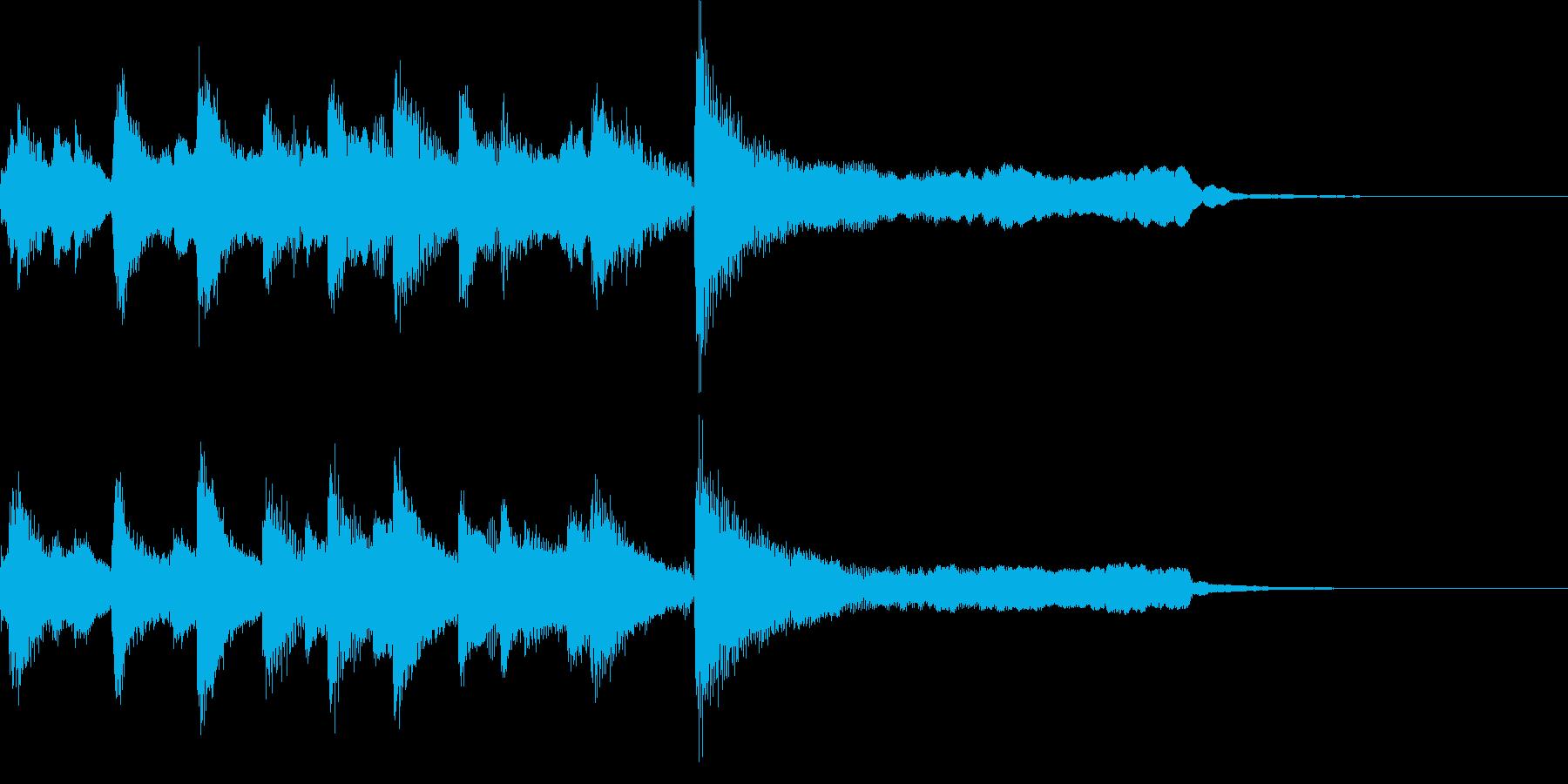 優しいオケ CM ジングル サウンドロゴの再生済みの波形