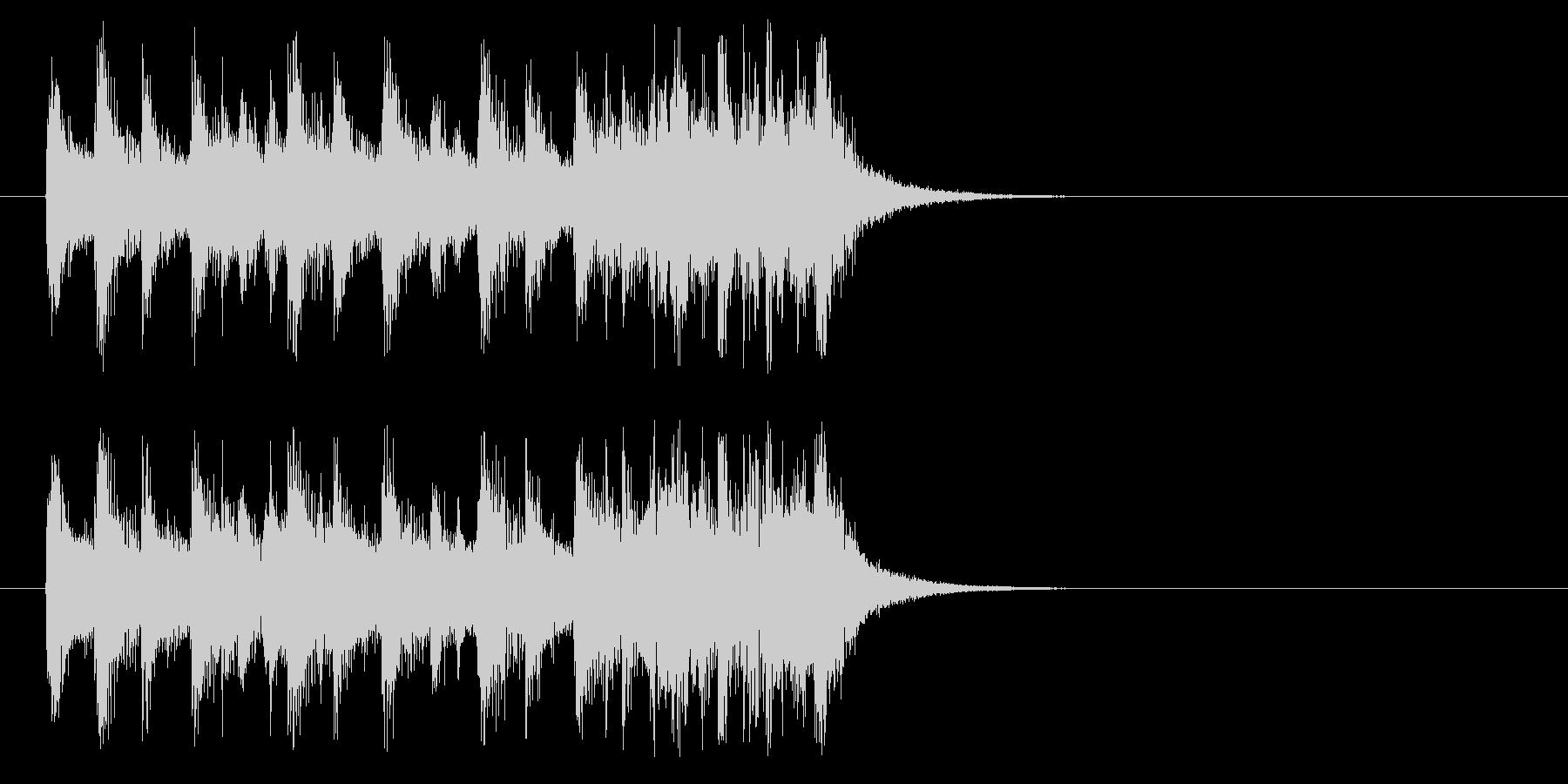 ジングル(もりあがりきり風)の未再生の波形