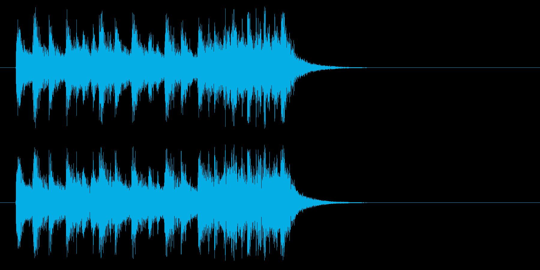 ジングル(もりあがりきり風)の再生済みの波形