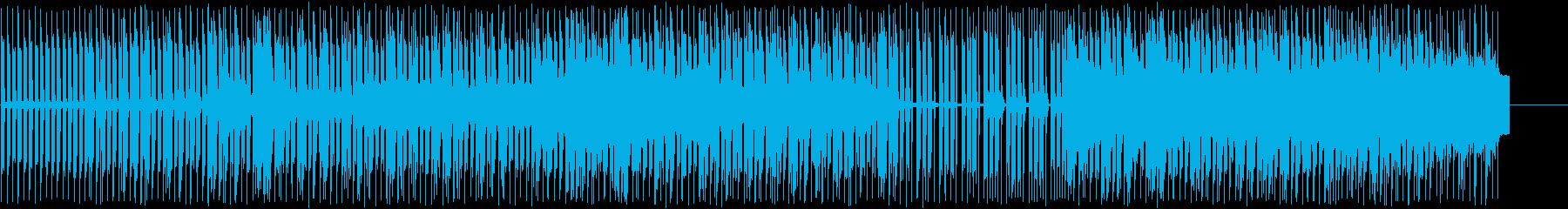 4つ打ちにピアノメロディーの再生済みの波形