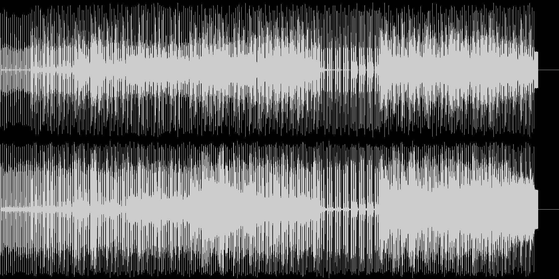 4つ打ちにピアノメロディーの未再生の波形