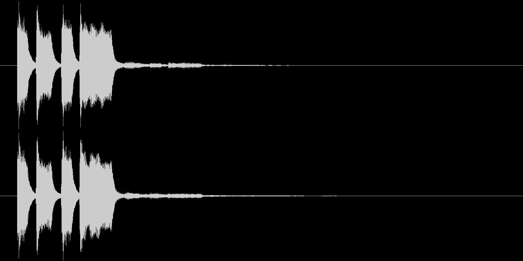 ピコピコン(正解・獲得)の未再生の波形