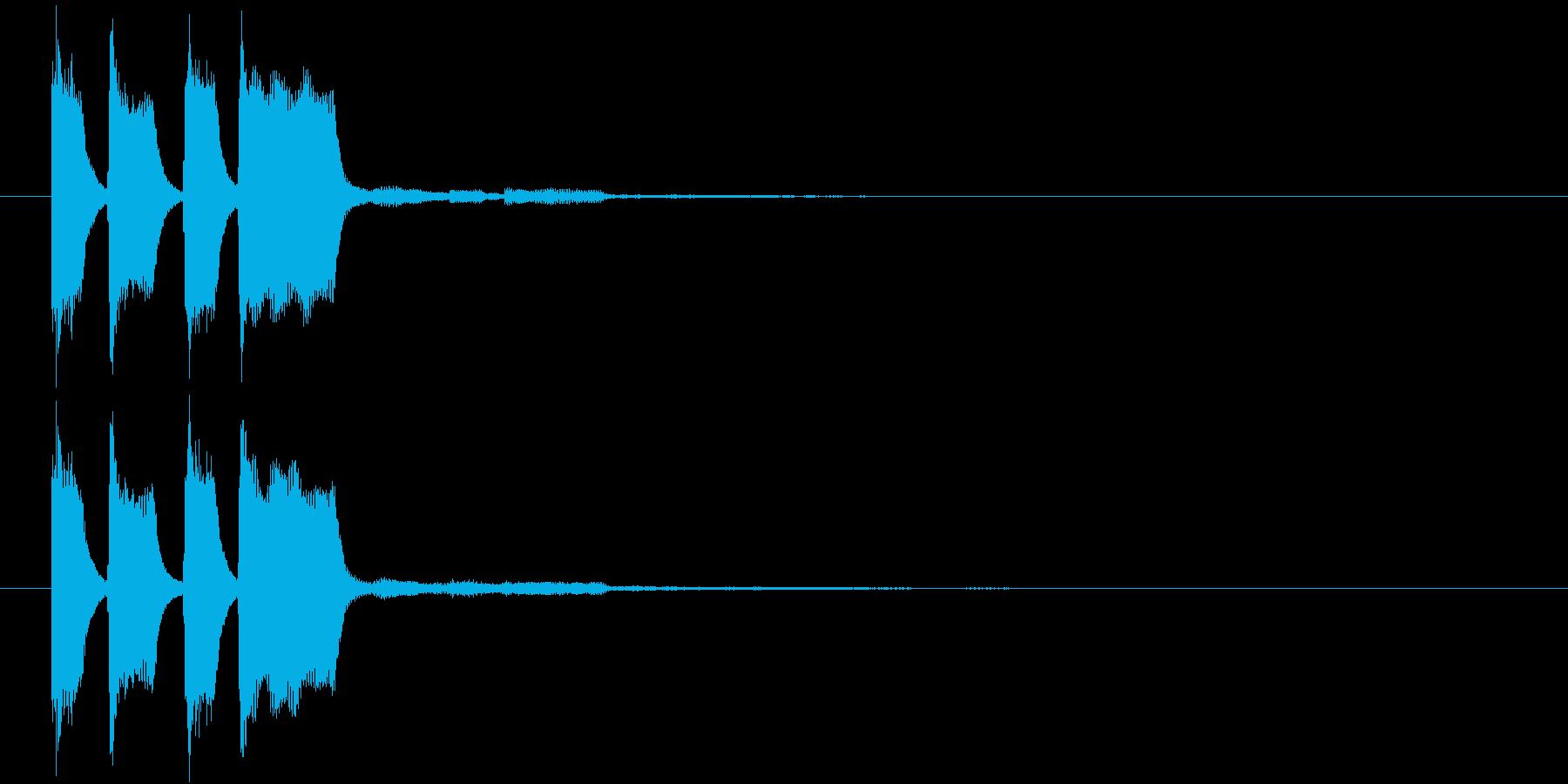 ピコピコン(正解・獲得)の再生済みの波形