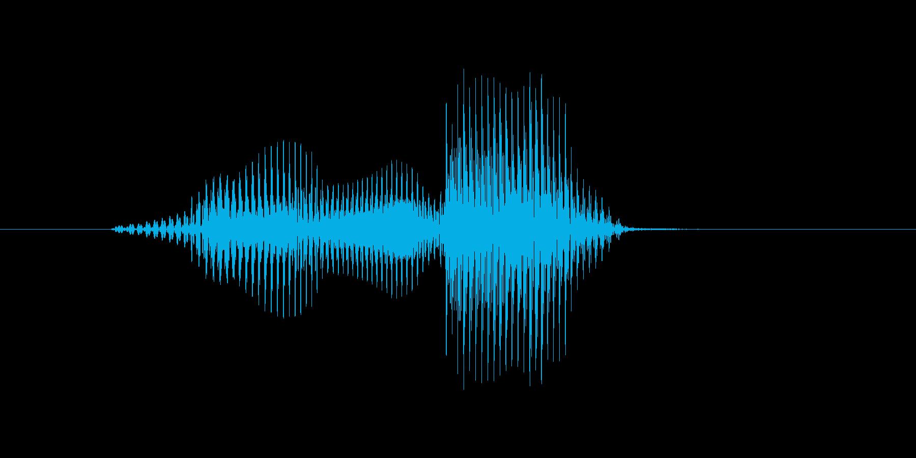 問題の再生済みの波形