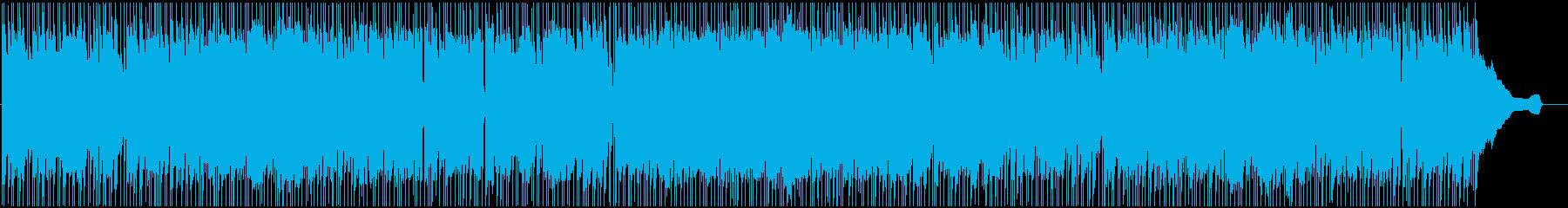 躍動感のあるイケイケなポップロックの再生済みの波形