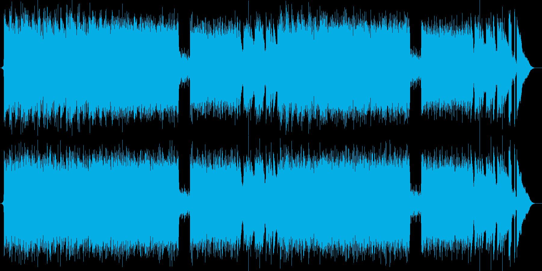 軽快なピアノミュージックの再生済みの波形