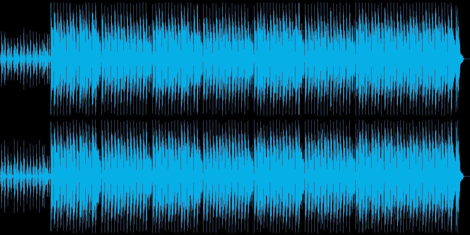 ハッピーなウクレレBGM ループ無の再生済みの波形