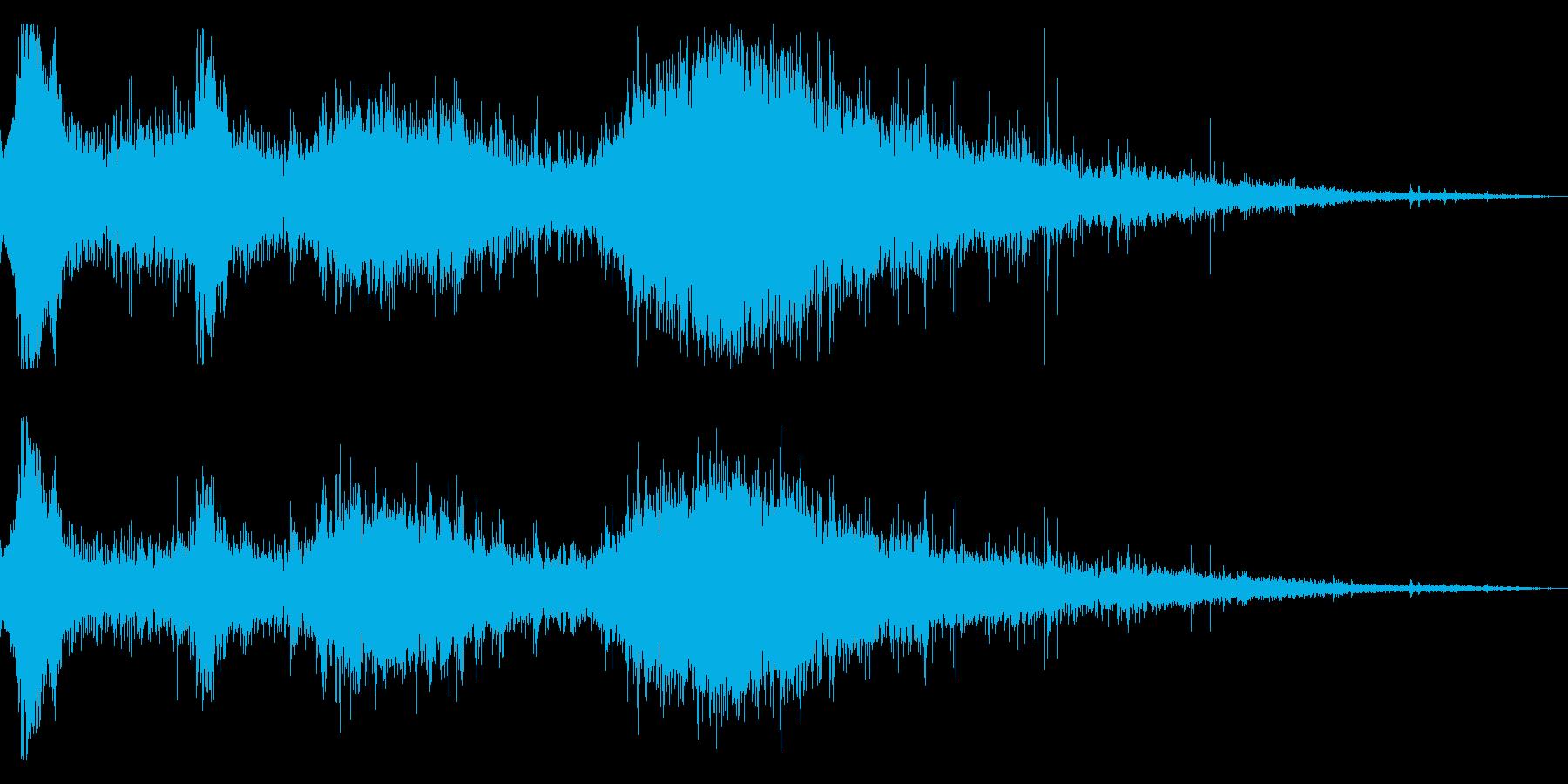 水に飛び込んだ時の効果音 03の再生済みの波形