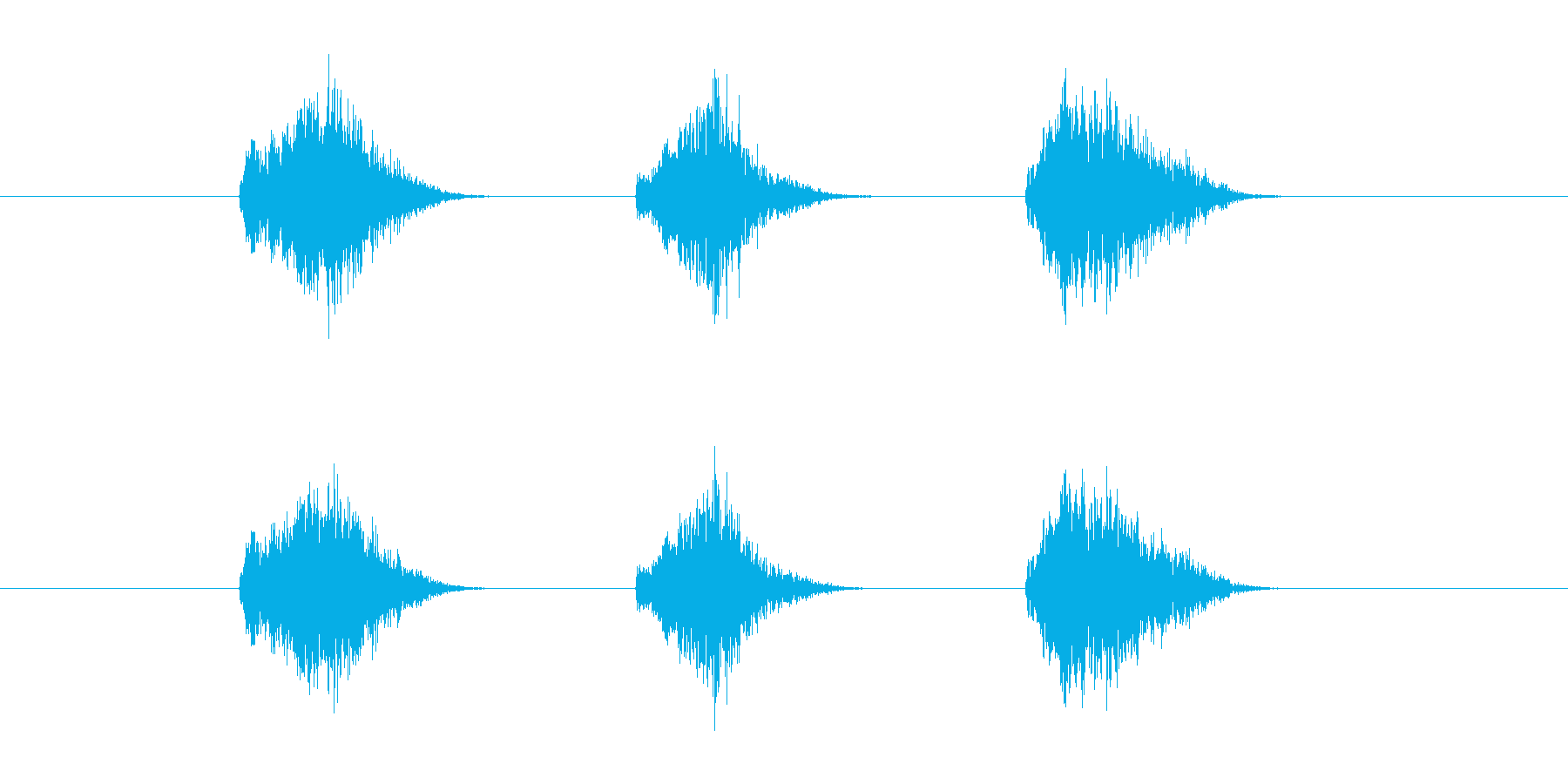 ゲーム等、開始前カウント(3-2-1)Gの再生済みの波形