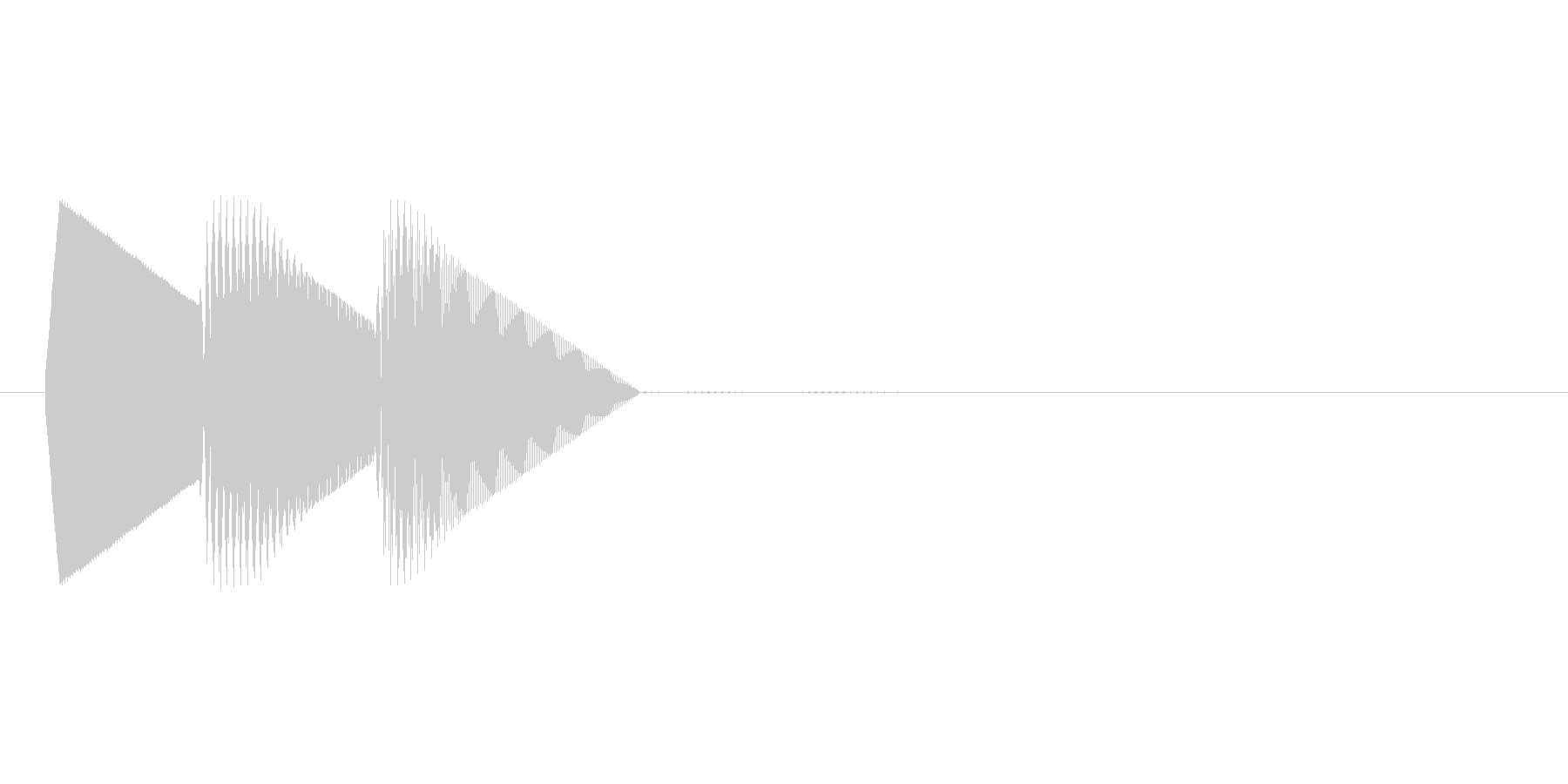 8bitのシステム音ピロン↓の未再生の波形