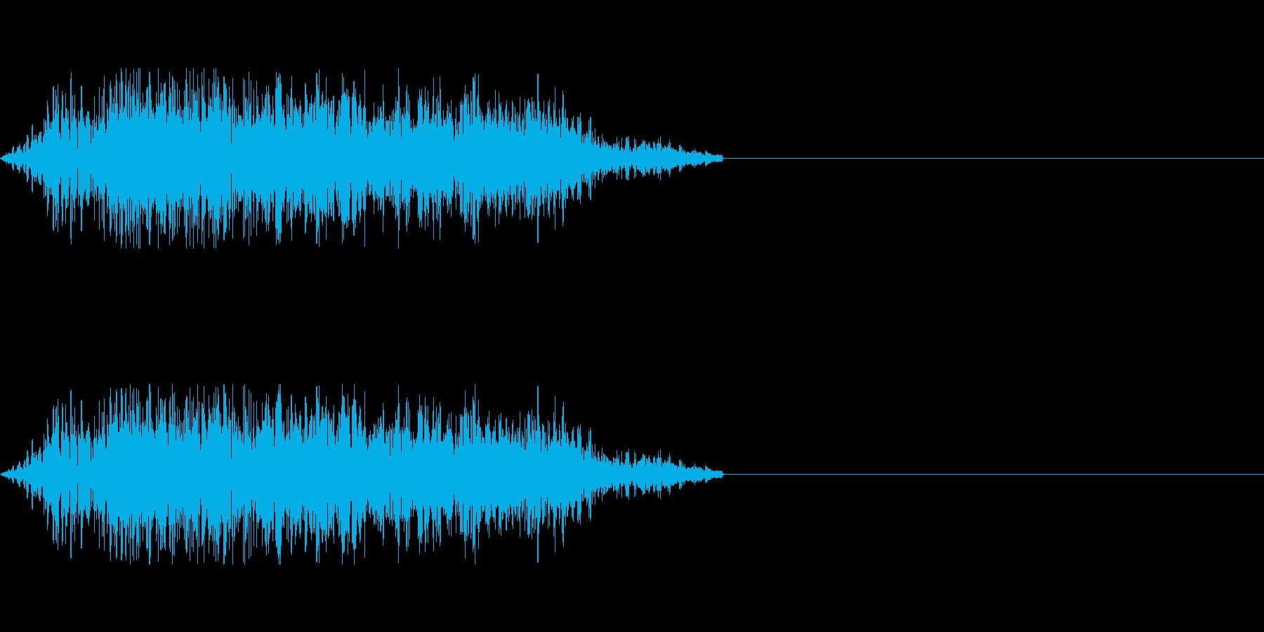 モンスターの雄叫びの再生済みの波形