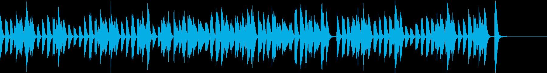 軽快で可愛らしい映像用ピアノソロの再生済みの波形