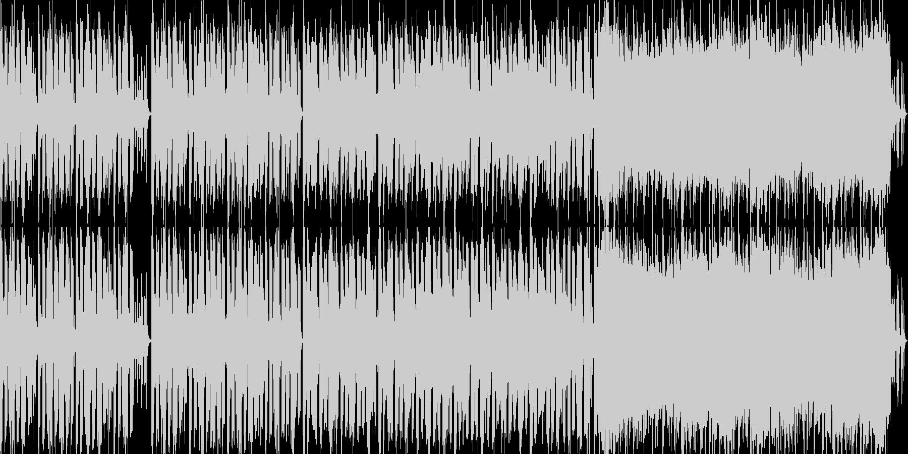ほのぼのした明るいBGMの未再生の波形