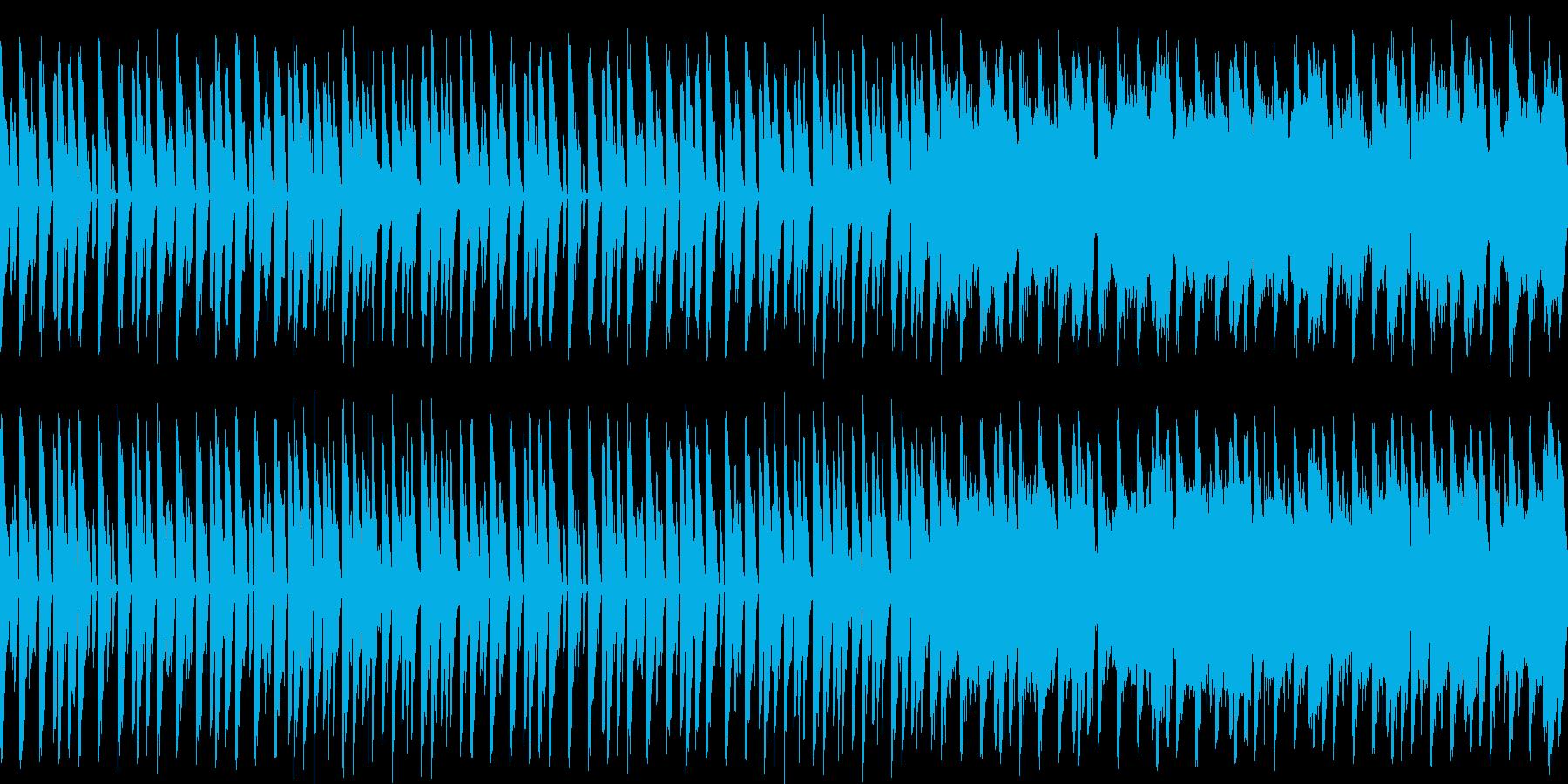 コミカルでかわいい感じのシンセ系BGMの再生済みの波形