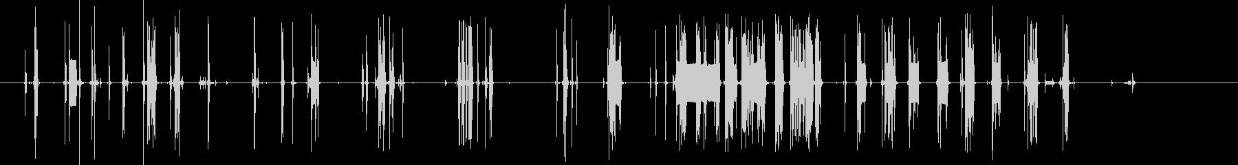 壊れたラジオのようなノイズの未再生の波形