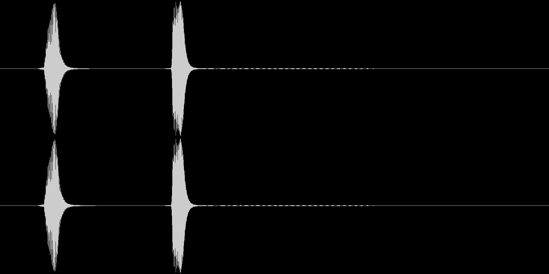 ポピッ、コピッ、選択音、クリック音の未再生の波形