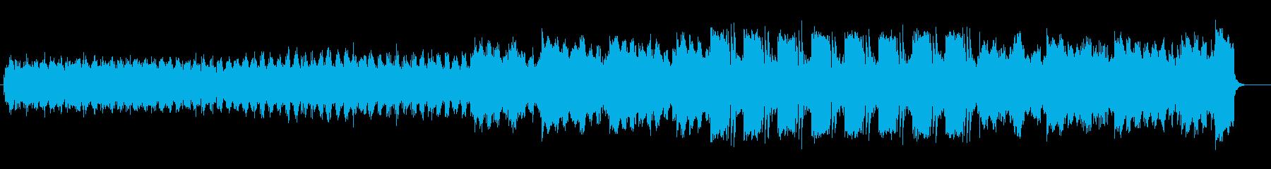 明るいリラクゼーションミュージックの再生済みの波形