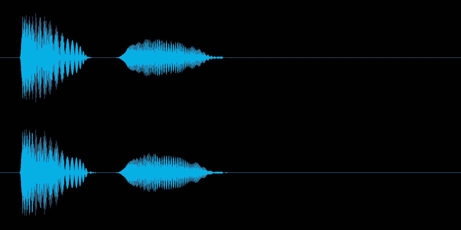 効果音、つかむ、ぷにゅ、弾力、ゲル、吸着の再生済みの波形