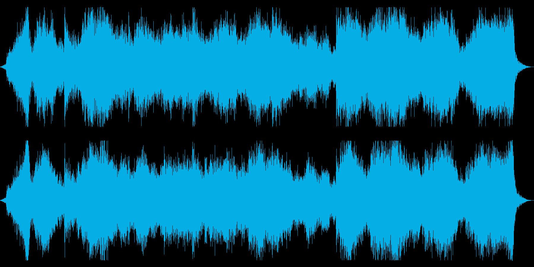 恐怖感を演出するダークアンビエントの再生済みの波形