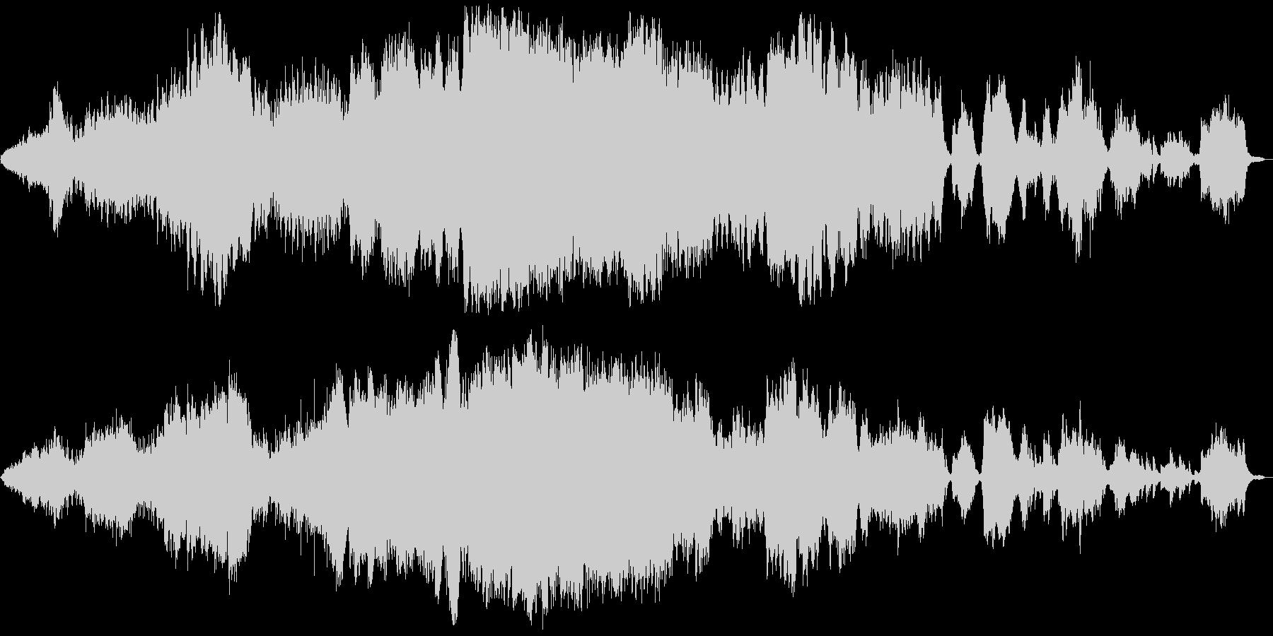 SF的オーケストラ音楽の未再生の波形