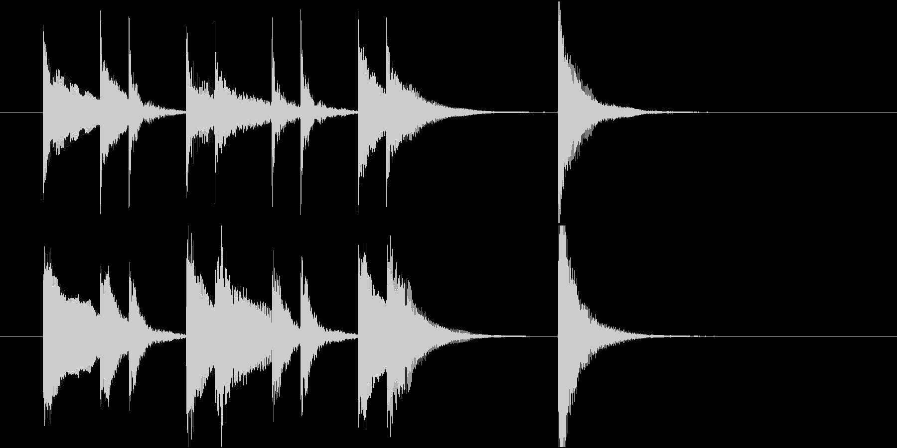 ピアノのかわいいジングルの未再生の波形