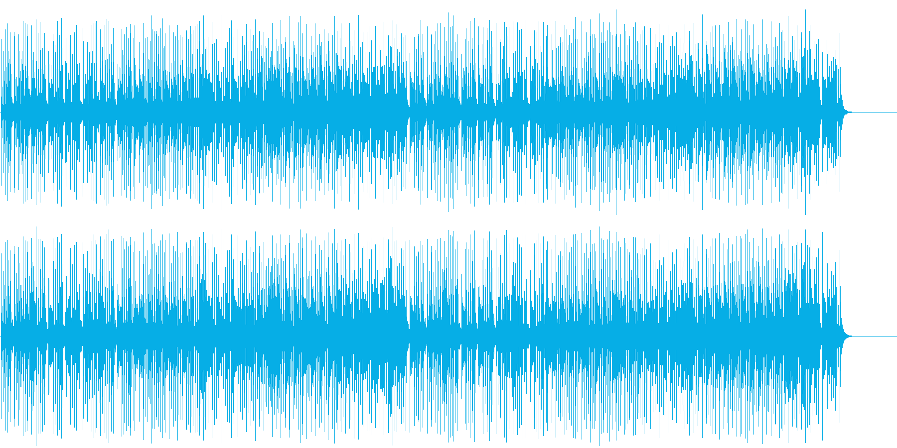 アニメ風のほのぼのとしたおとぼけポップの再生済みの波形