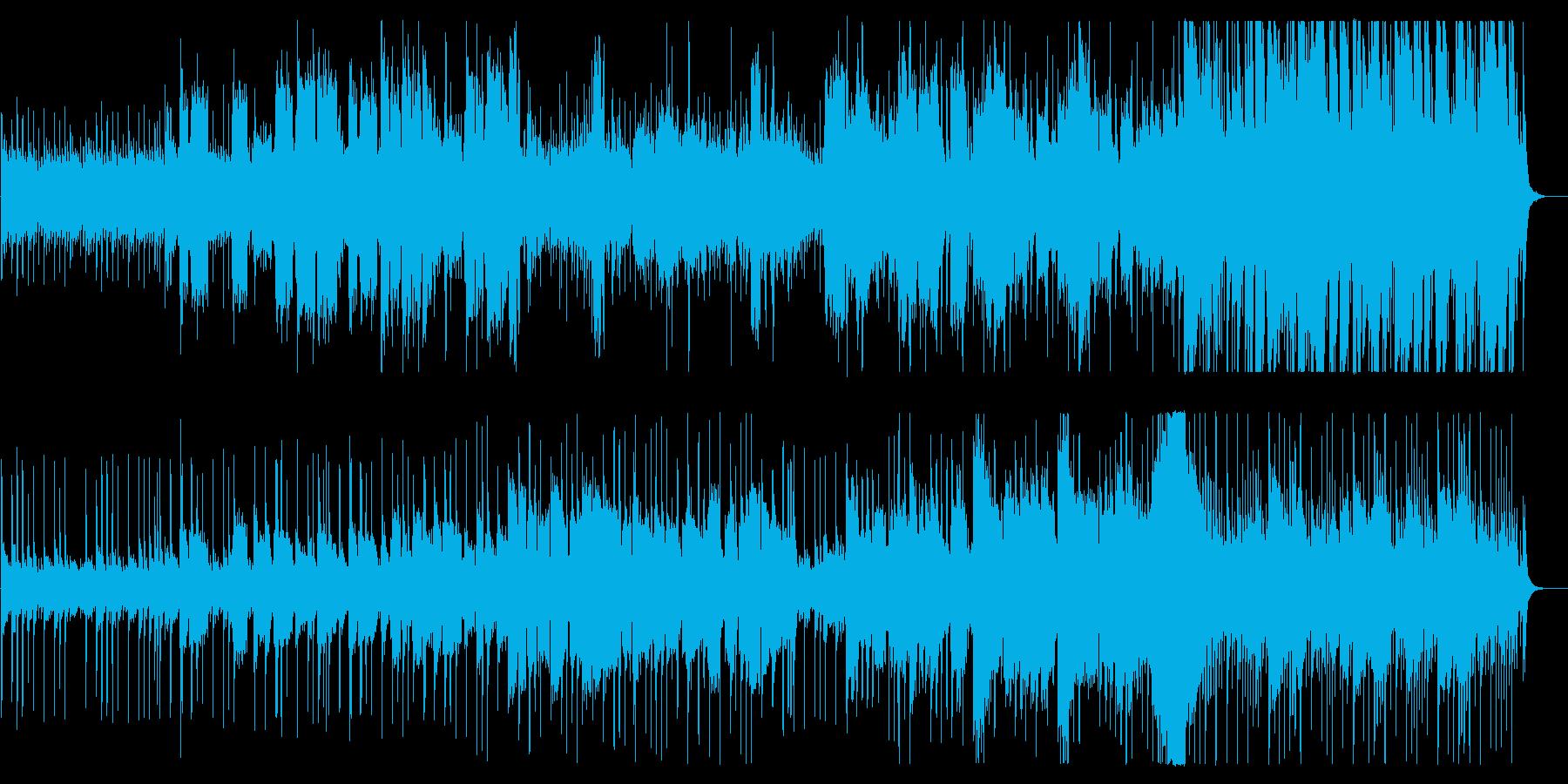美しく明るい和風管弦楽器シンセサウンドの再生済みの波形