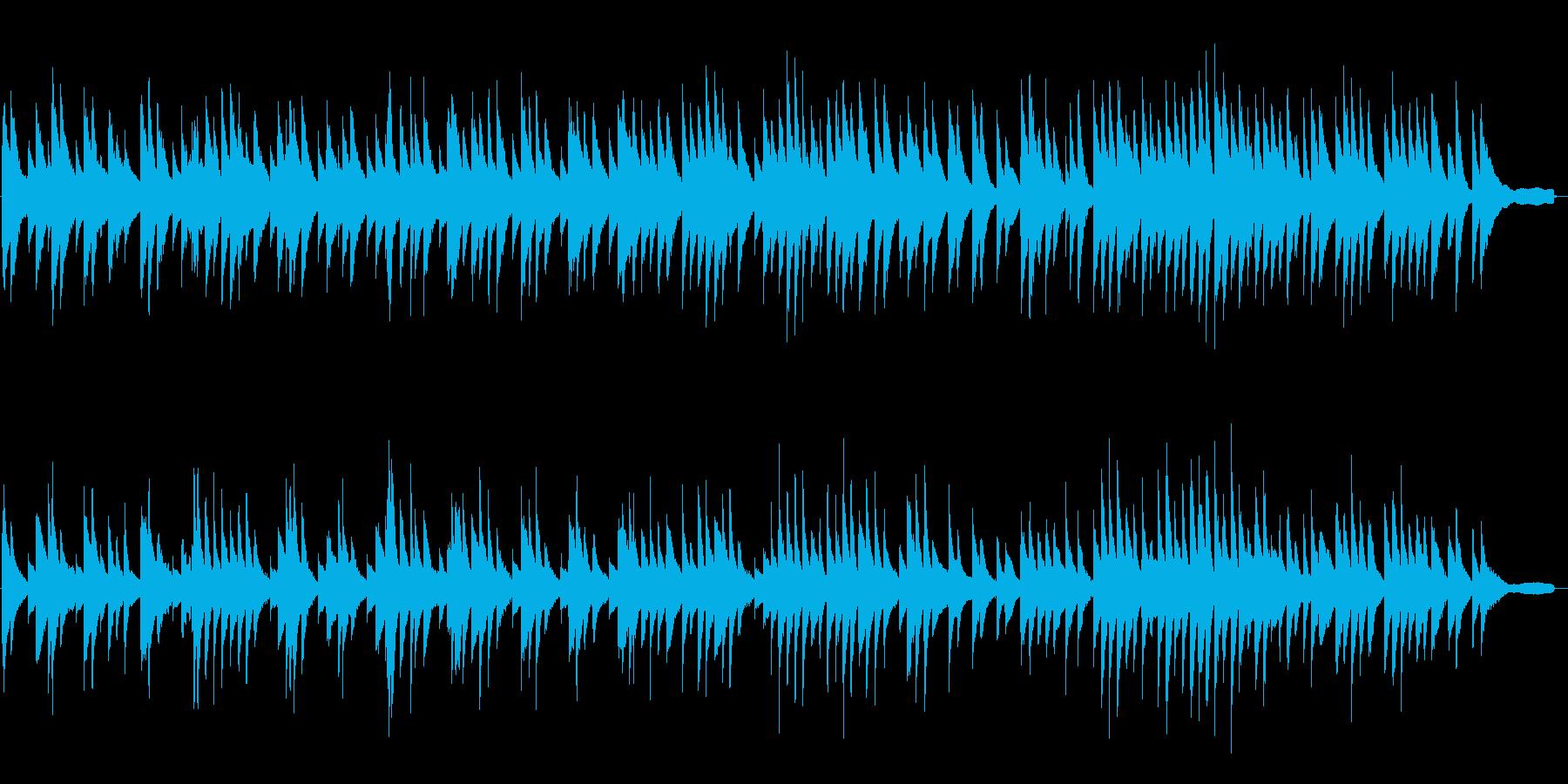 浮遊感のある即興ピアノソロの再生済みの波形
