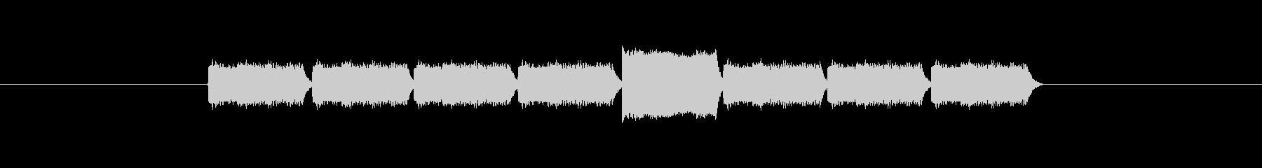 「9」を表す音のカウンターですの未再生の波形