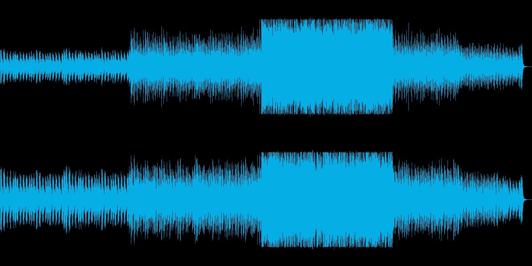 ポップで煌びやかなクリスマス風サウンドの再生済みの波形