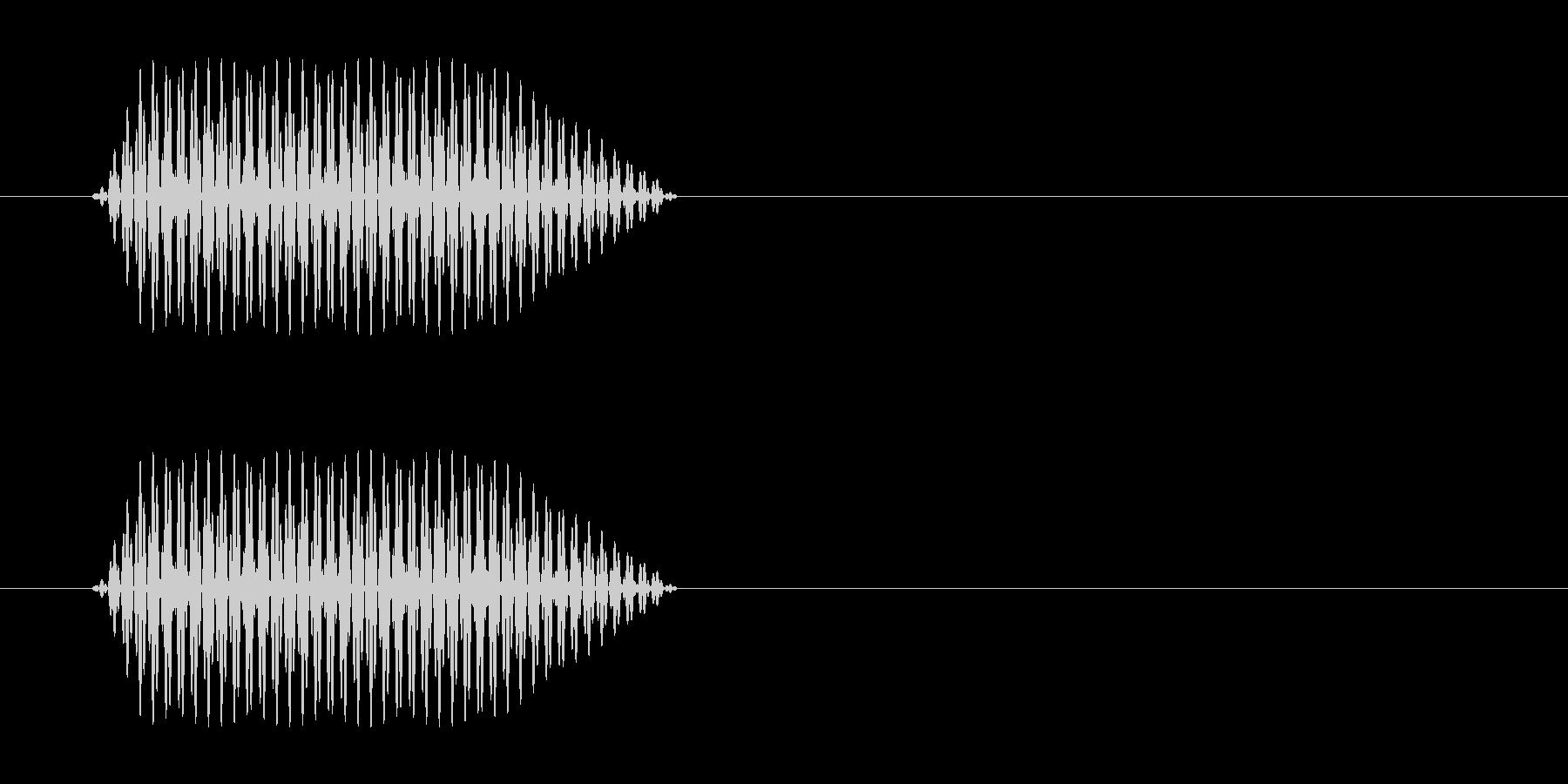 ピッ(電話のキー音)の未再生の波形