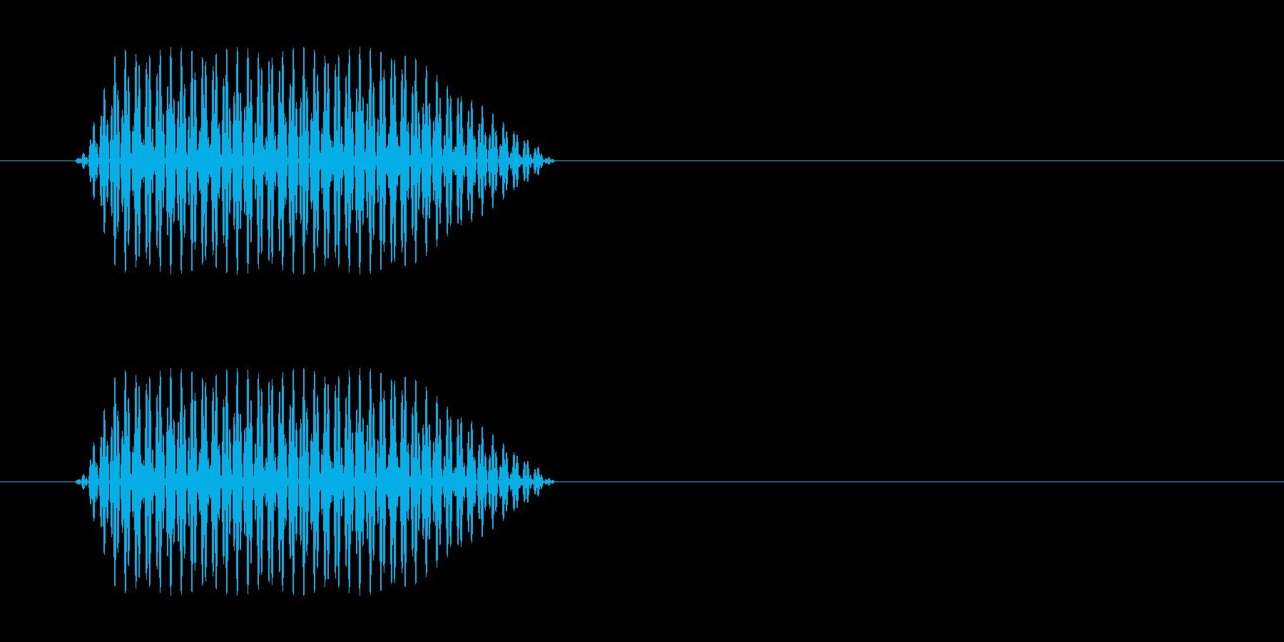 ピッ(電話のキー音)の再生済みの波形