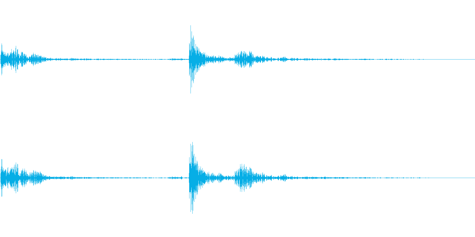 カチッ:マウスクリックの再生済みの波形