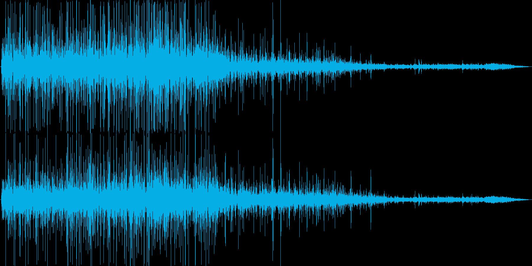 揚げ物の音の再生済みの波形