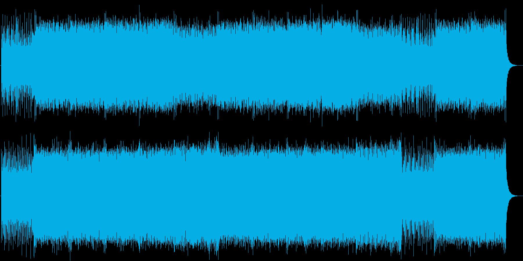 疾走感のあるシンセサイザーテクノの再生済みの波形