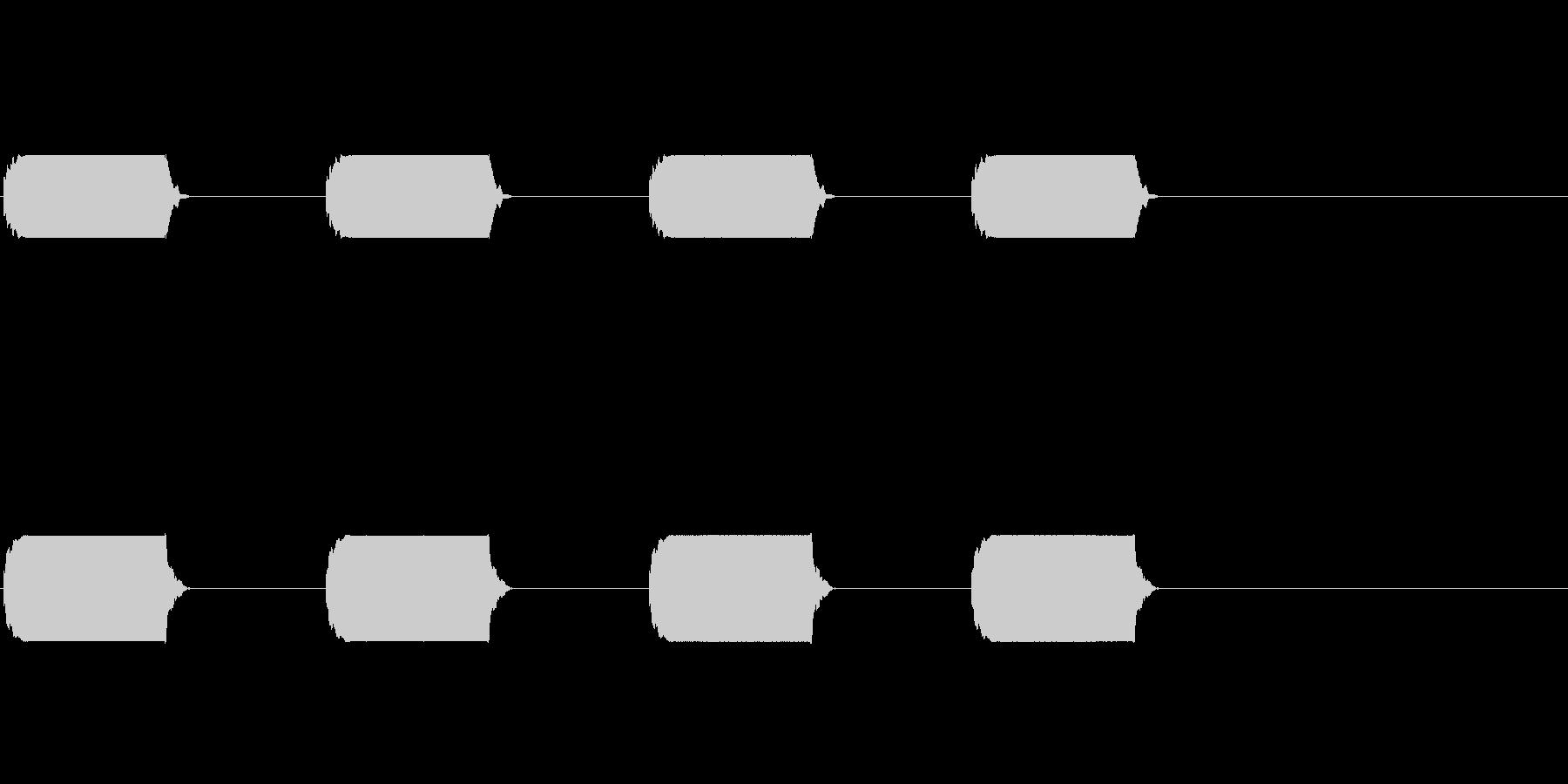 ピーピーピーピー(家電のブザー)の未再生の波形