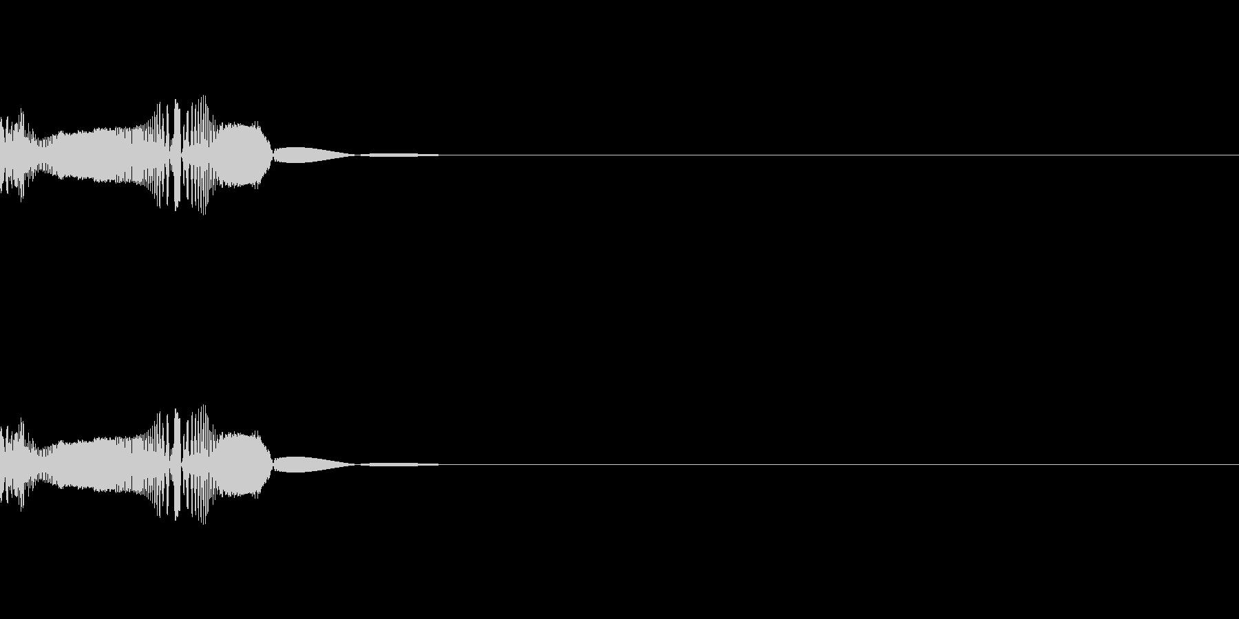 かわいいSF系ビーム(ワンショット)の未再生の波形