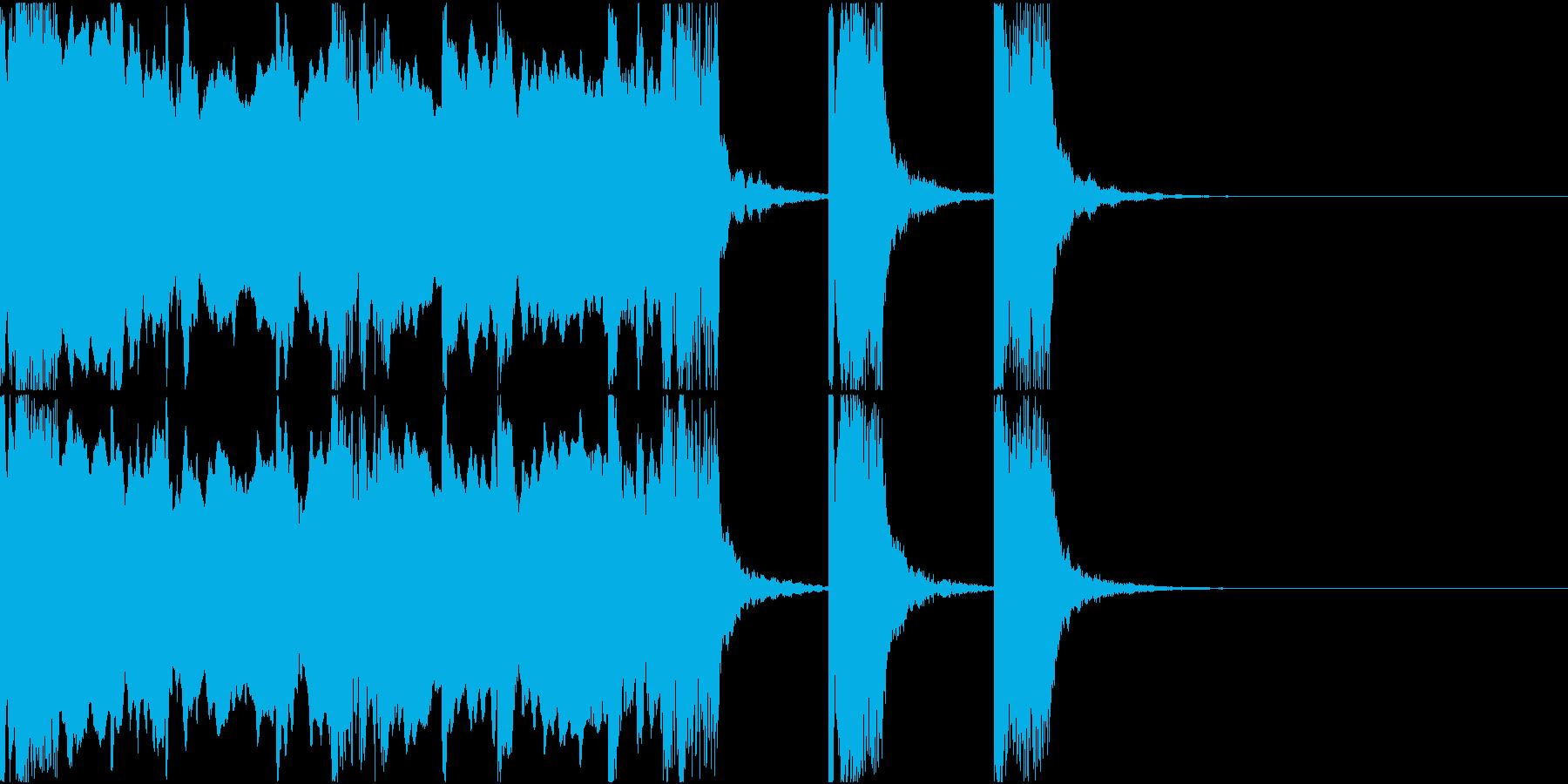 ゲームオーバージングル(ファミコン風)の再生済みの波形