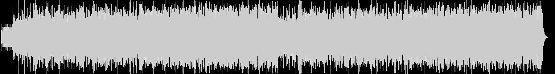 勢いのあるシンセサイザーサウンドの未再生の波形