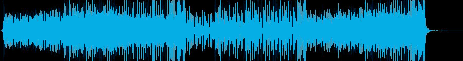 未来感のあるEDM系BGMの再生済みの波形